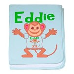 Little Monkey Eddie baby blanket