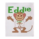 Little Monkey Eddie Throw Blanket