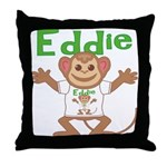 Little Monkey Eddie Throw Pillow