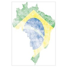 Brazil Flag/Map Distressed