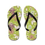 Botonical Flower Green Flip Flops