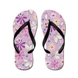 Botonical Flower Lilac Flip Flops