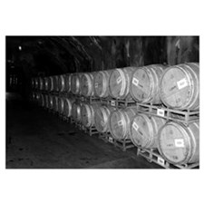 Black&White Beringer Vineyards Wine Barrel