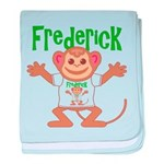 Little Monkey Frederick baby blanket