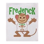 Little Monkey Frederick Throw Blanket