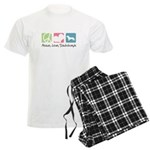 Peace, Love, Dachshunds Men's Light Pajamas