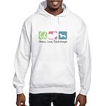 Peace, Love, Dachshunds Hooded Sweatshirt