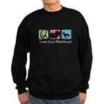 Peace, Love, Dachshunds Sweatshirt (dark)