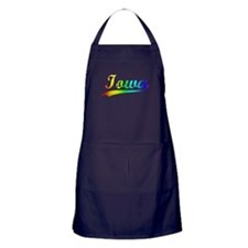 Iowa, Vintage Rainbow Apron (dark)