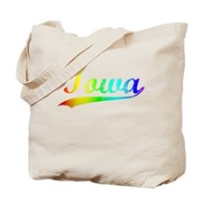 Iowa, Vintage Rainbow Tote Bag