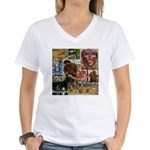Wildlife Festival Set 1 of 2 Women's V-Neck T-Shir
