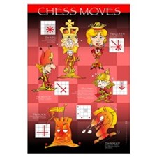 Chess moves cartoon