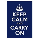 Funny Keep calm and carry on Wall Art