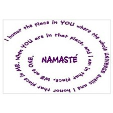 Namaste and its Meaning in Sacred Purple Large Fra