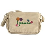 Yasmin Flowers Messenger Bag