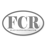 FCR Abbreviation Flat Coated Retriever Bumper Stickers