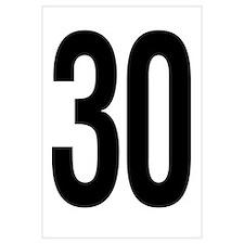 Number 30 Helvetica
