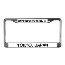 Happiness is Tokyo License Plate Frame