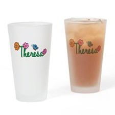 Theresa Flowers Drinking Glass