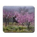 Spring Half Pass Dressage Horse Mousepad