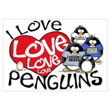 I Love Love More Penguins