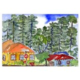 Cute Cottages Wall Art