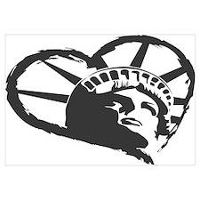 Lady Liberty Heart