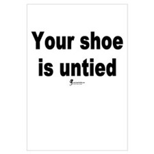 Your shoe is untied