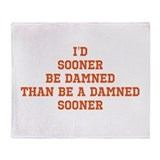 Hate oklahoma Throw Blanket