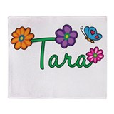 Tara Flowers Throw Blanket