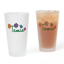 Tamia Flowers Drinking Glass