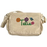 Talia Flowers Messenger Bag