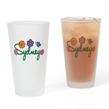 Sydney Flowers Drinking Glass