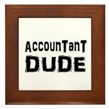 Cute Funny accounting Framed Tile