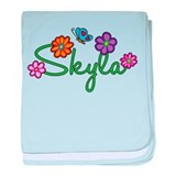 Skyla Flowers baby blanket