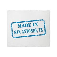 MADE IN SAN ANTONIO, TX Throw Blanket