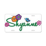 Shyanne Flowers Aluminum License Plate
