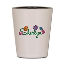 Sherlyn Flowers Shot Glass