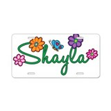Shayla Flowers Aluminum License Plate