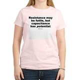 Resistance may be futile -  Women's Pink T-Shirt