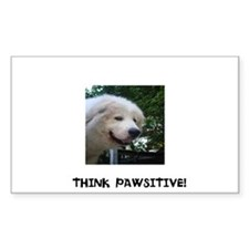 Think Pawsitive! Decal