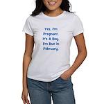 Pregnant w/ Boy due February Women's T-Shirt