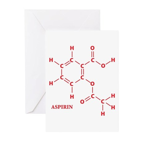 Aspirin Molecule Greeting Cards (Pk of 10)