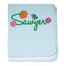Sawyer Flowers baby blanket