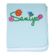 Saniya Flowers baby blanket