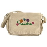 Sandra Flowers Messenger Bag