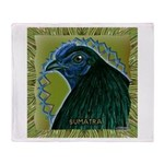 Framed Sumatra Rooster Throw Blanket