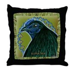 Framed Sumatra Rooster Throw Pillow