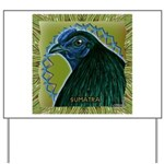 Framed Sumatra Rooster Yard Sign