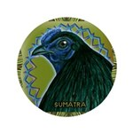 "Framed Sumatra Rooster 3.5"" Button (100 pack)"